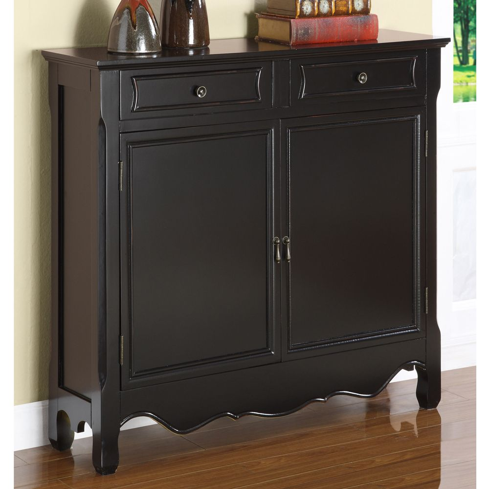 Console Cabinet 11 Deep Black Console Table Powell Furniture