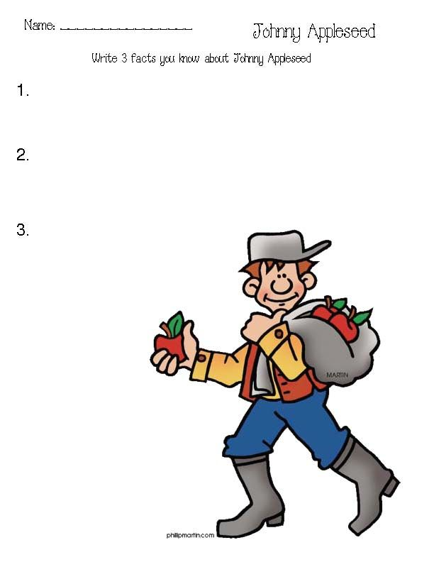 Johnny Appleseed Activities | Johnny Appleseed | Pinterest