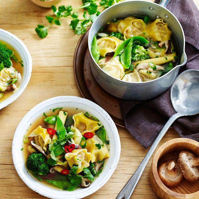 Pork And Prawn Wonton Soup Recipe Healthy Soup Healthy