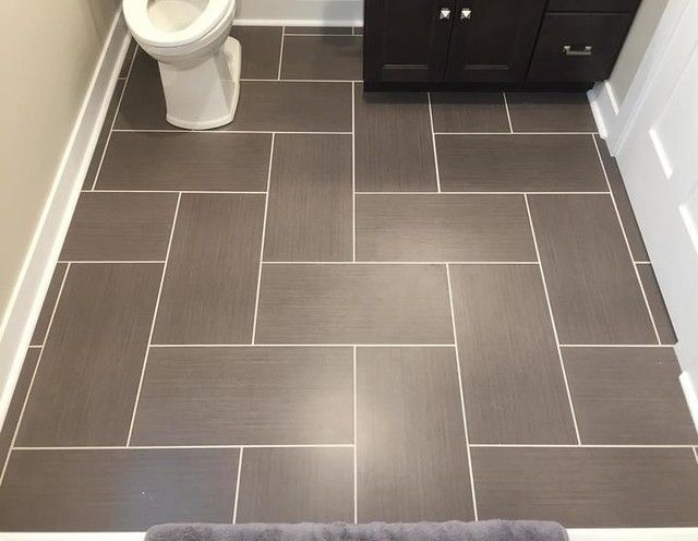 Bathroom Floor Tile Yale Ceniza Porcelain Floor Tile 12 X 24 In Patterned Bathroom Tiles Tile Layout Tile Floor