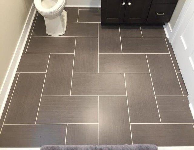 Bathroom Floor Tile Yale Ceniza Porcelain Floor Tile 12 X 24 In Patterned Bathroom Tiles Tile Layout Patterned Floor Tiles