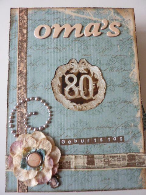 Omas 80 Geburtstag Cover Scrapbooking Alben