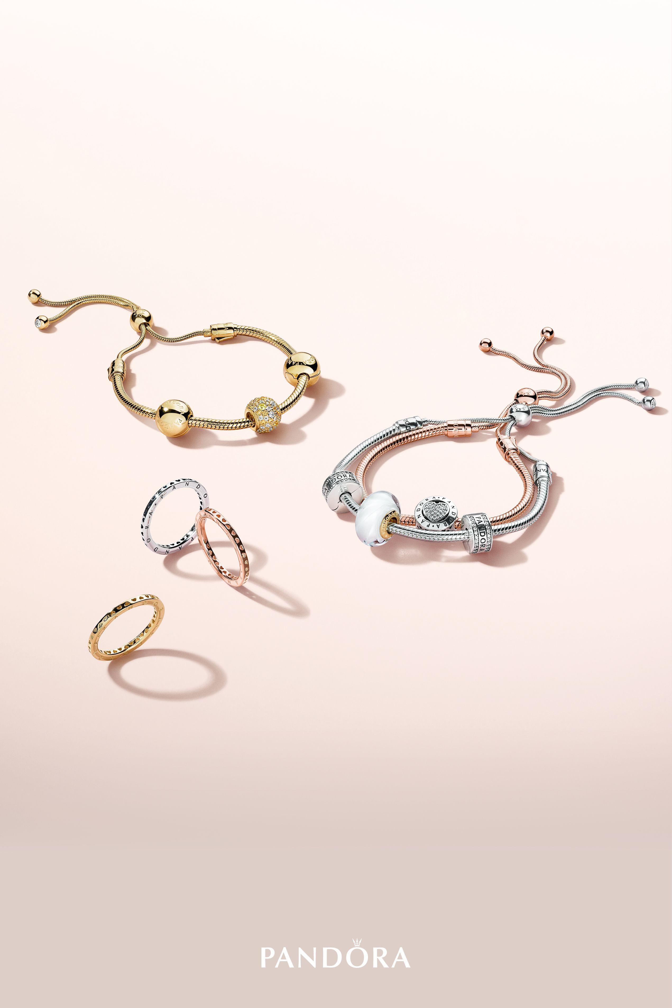 422d2052a0b6 Create one-of-a-kind looks with the new PANDORA Sliding Bracelets ...