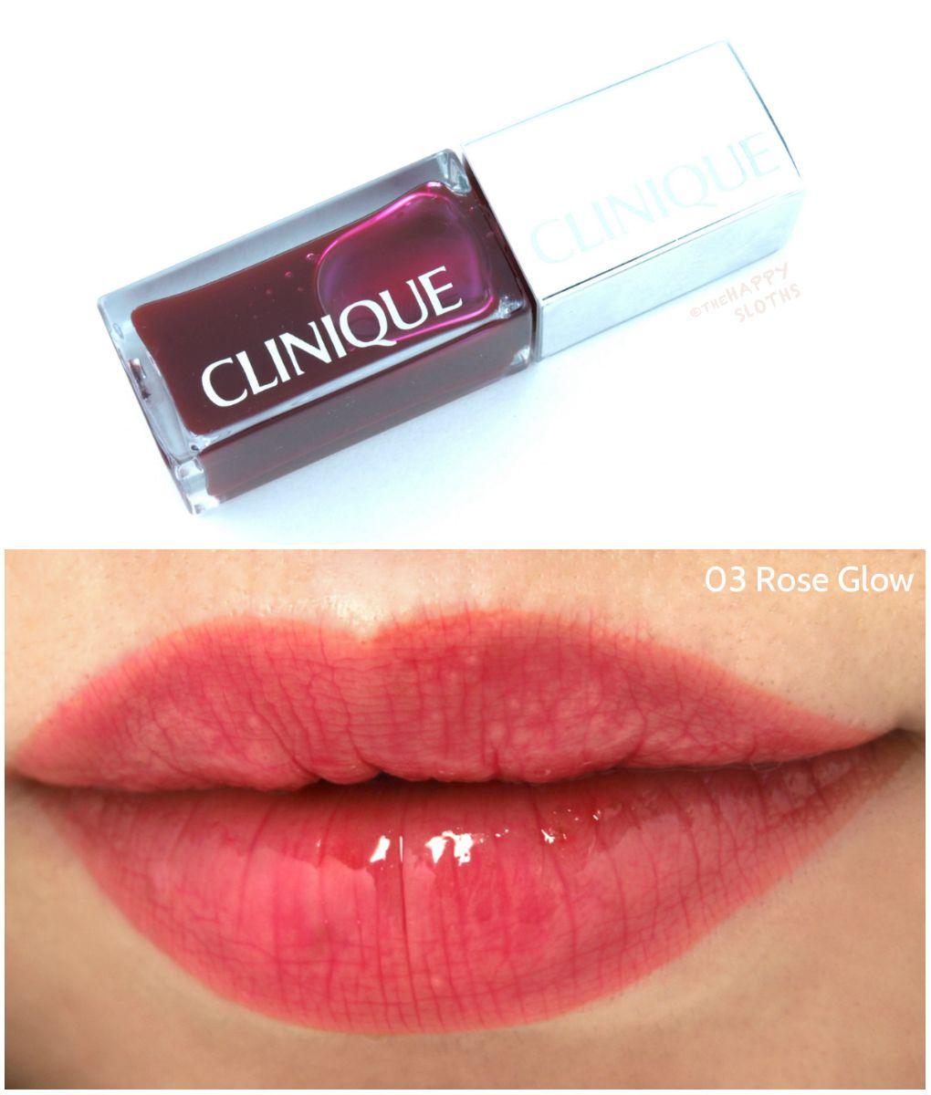 Clinique Pop Lacquer Lip Color Primer And Oil Cheek Glow City Holo The Happy Sloths