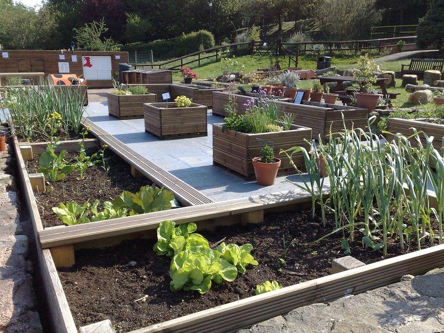 outdoor gardens. Outdoor Garden Classroom With Some Raised Beds And Wheelchair Friendly Walkways Gardens
