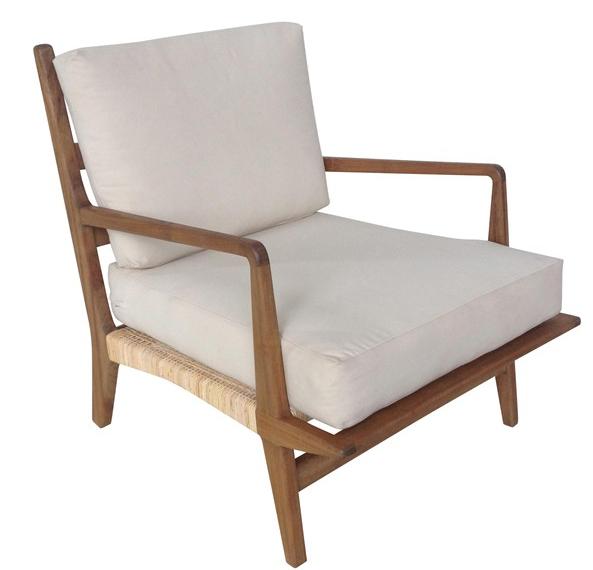 Groovy Teak Rattan Chair W Cushions Al Family Room Wayfair Andrewgaddart Wooden Chair Designs For Living Room Andrewgaddartcom