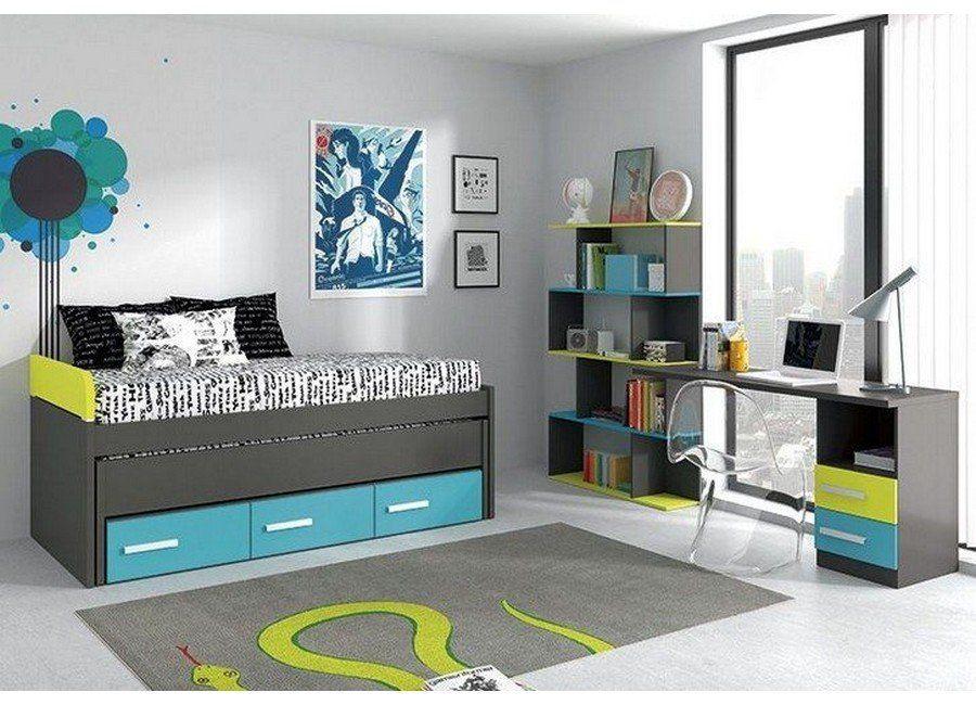 Habitaciones Juveniles Compactos Camas Dobles Habitaciones Juveniles Habitaciones De Ninos Verdes Camas