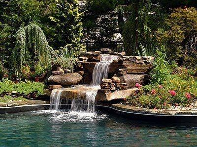Caida de agua fotos de estanques y albercas via www - Estanques de agua ...