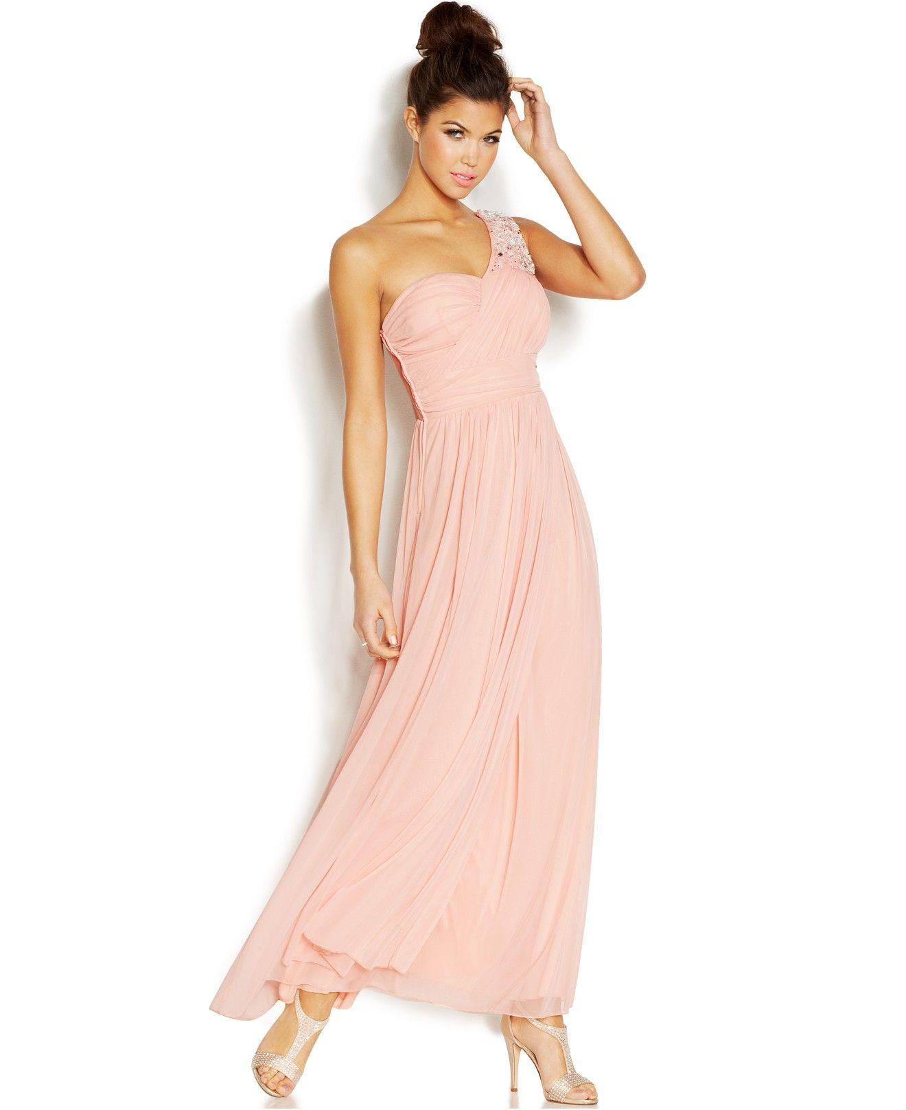 B Darlin Juniors\' One-Shoulder Gown - Juniors Shop All Prom Dresses ...