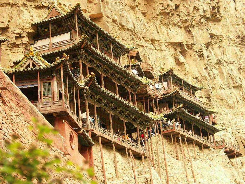 Hanging Monastery Stands At The Foot Of Mt Hengshan 5 Kilometers