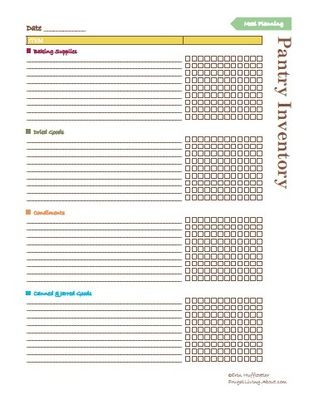 Free Printable Pantry Master List  Use It To Stock Your Pantry