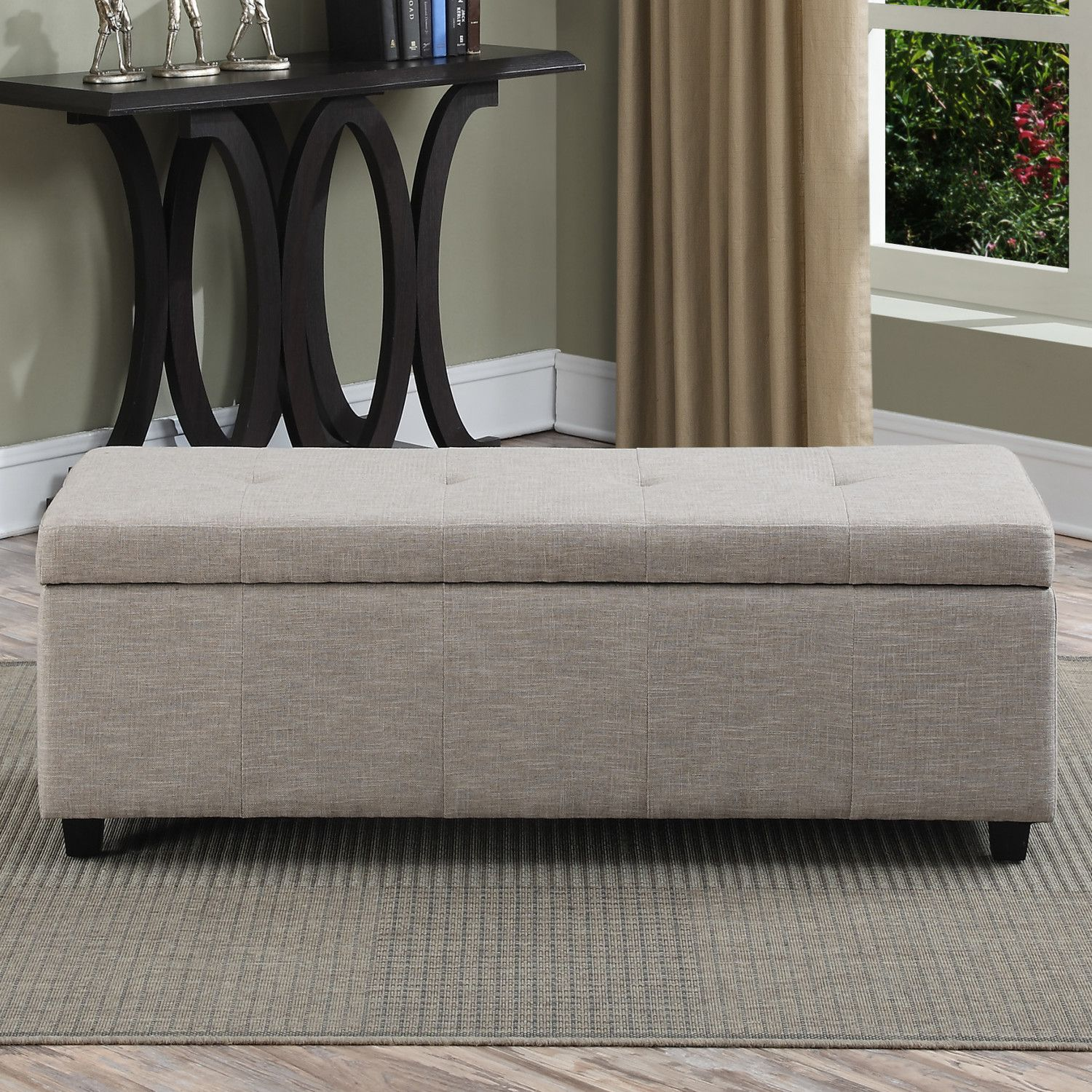 Castleford Upholstered Storage Entryway Bench