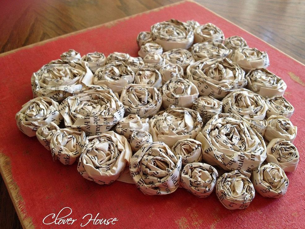 How to make paper roses paper roses books and craft how to make paper roses old book pagesold mightylinksfo