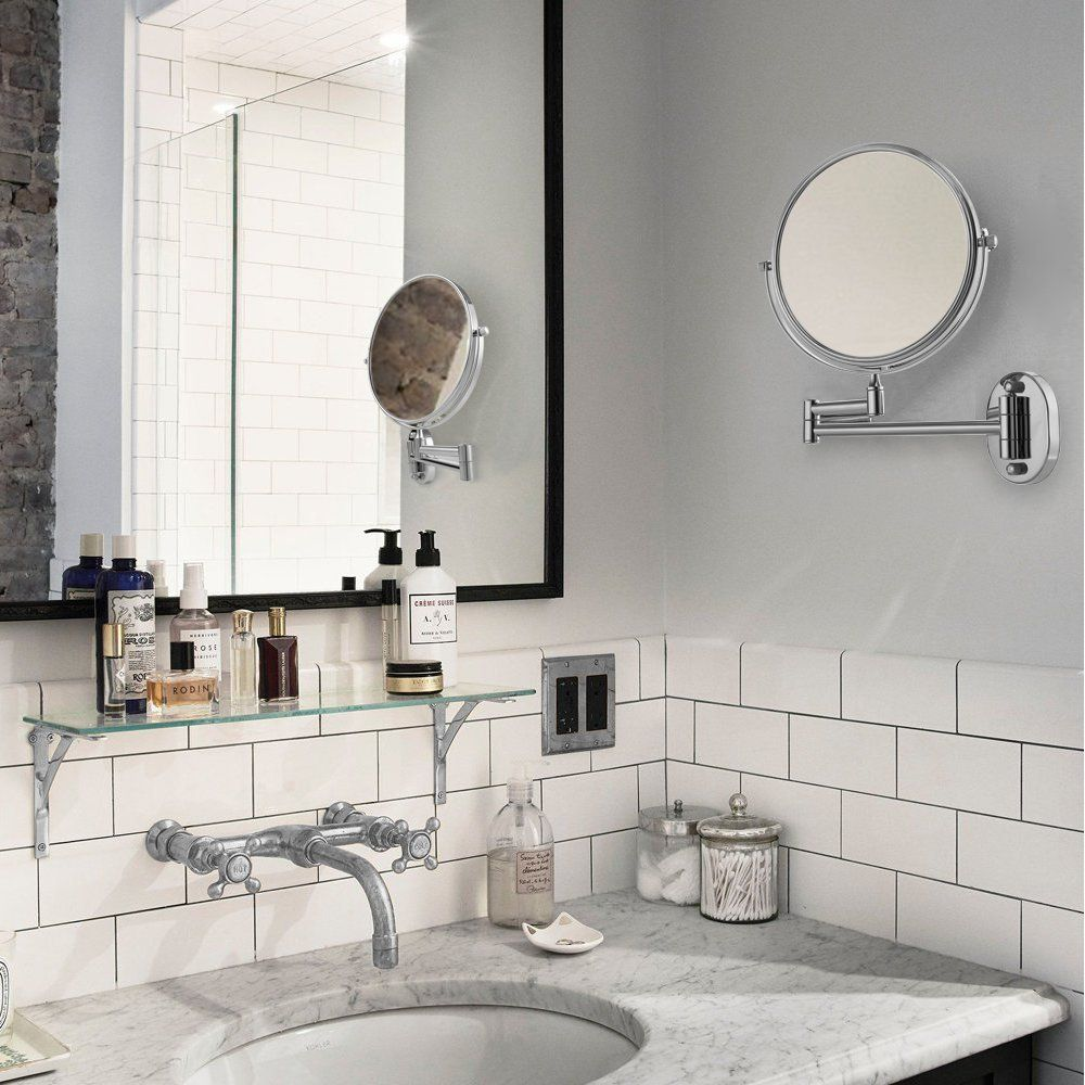 Cozzine Wall Mount Makeup Mirror 7X Magnifying Two Side