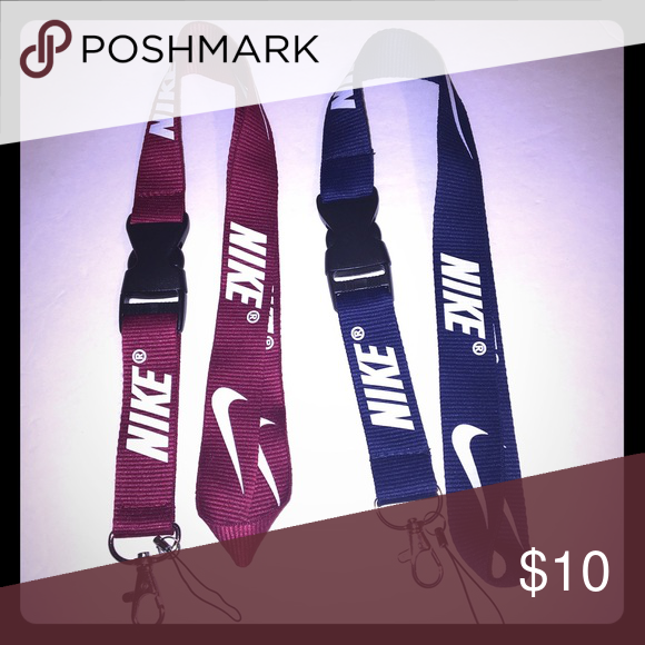 NEW! 2 Nike• lanyard• Keychain• id badge Yes it's  available✳️   Both Lanyards included No tags❌ Not accepting offers on individual items❌ No trades❌                                                                                         I have other colors available. Just comment below ⬇️ which one ur looking to purchase and i ll tag u where I have it listed  Price is FIRM ✅  🔅•Prices for Bundles •🔅 1 lanyard $6 2 lanyards $10 3 lanyards $13 4 lanyards $15 5 lanyards $17 6 lanyards $19…