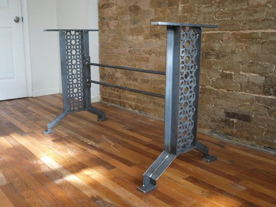 Elegant French Industrial Iron table desk base #frenchindustrial