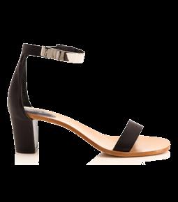 Chloé Sandals leather metal block heel FMnzE9BR