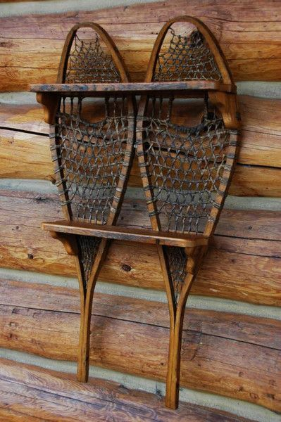 Snowshoe Shelf Cabin Decor Ski