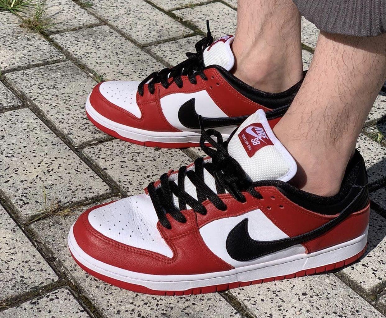 2020 Nike SB Dunk Low Pro Chicago | Nike fashion sneakers, Nike ...