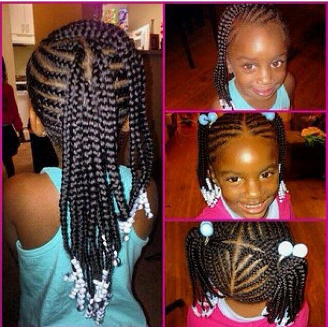 Braids For Kids With Beads Google Search Kid Hairstyles