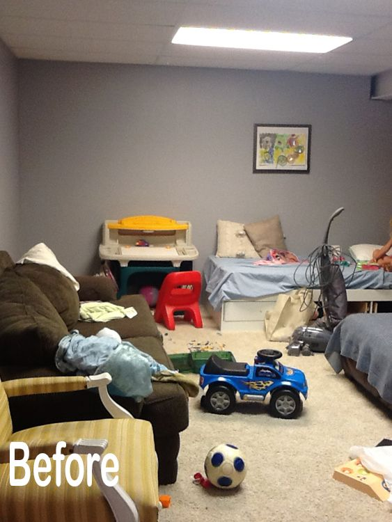 How to Brighten and Beautify a Basement Space | Painted ...