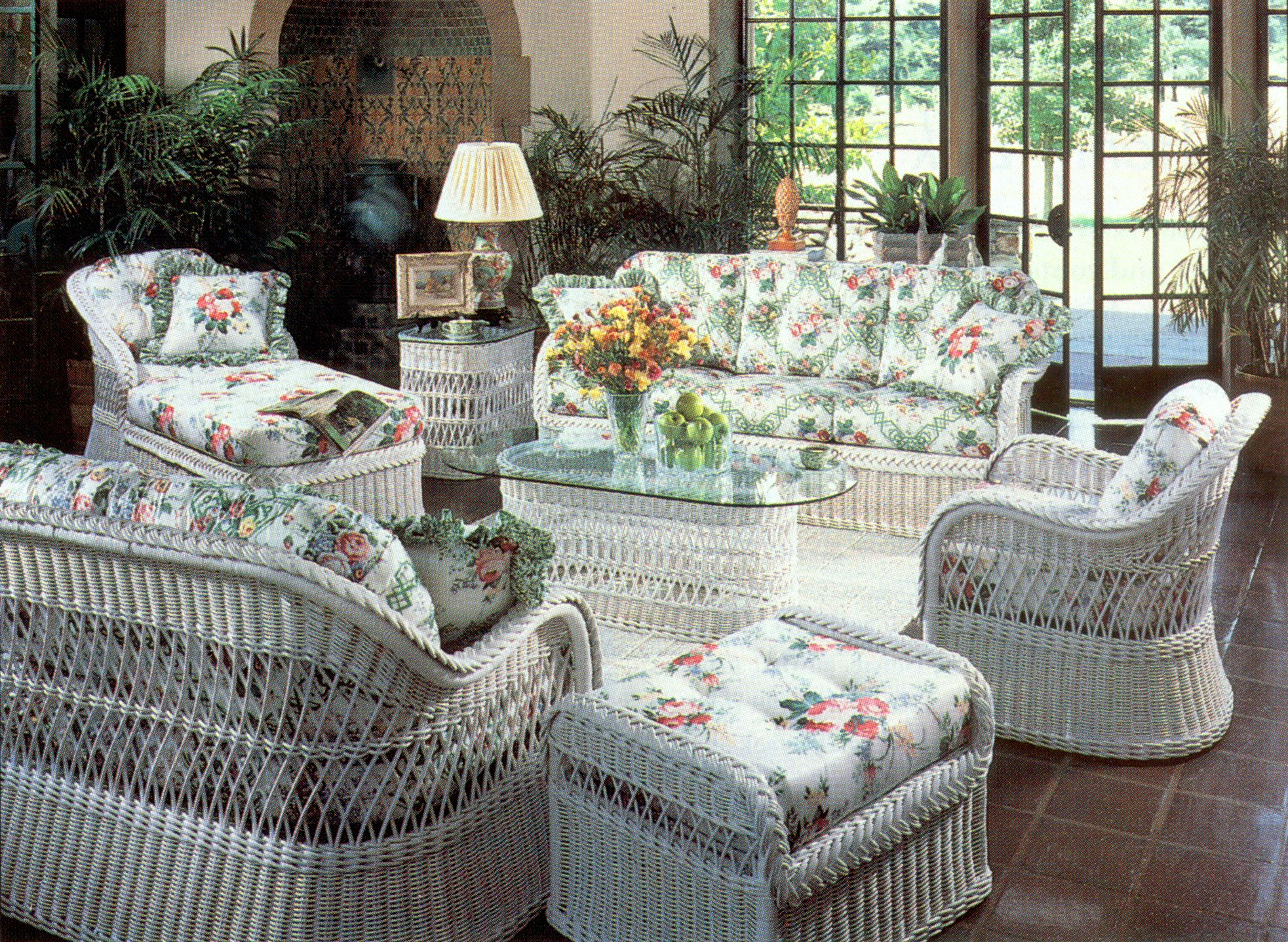 Henry link white wicker furniture for the home for Wicker living room furniture