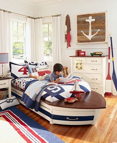 Anchor Wall Decor Pottery Barn Kids Toddler Rooms Boat Bed Beds