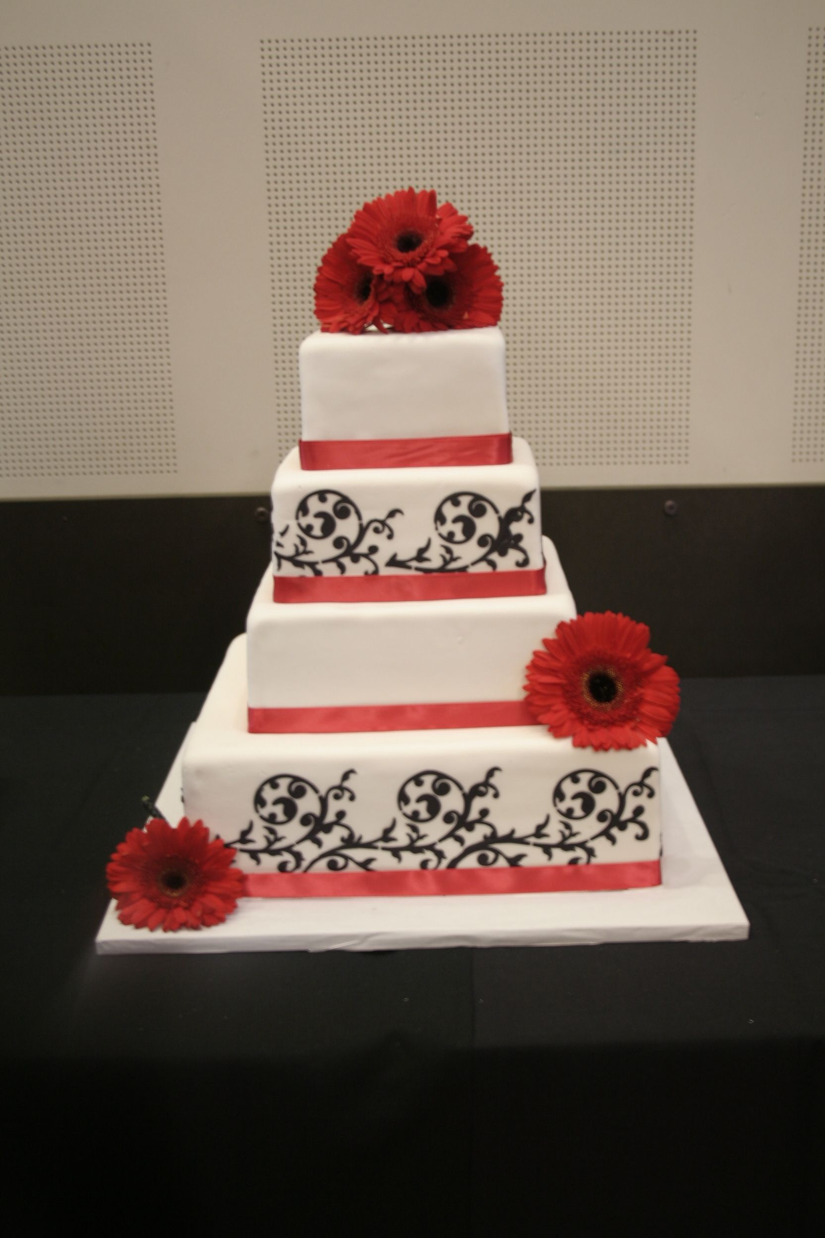 Square wedding cakes this cake was done for my nephewus wedding