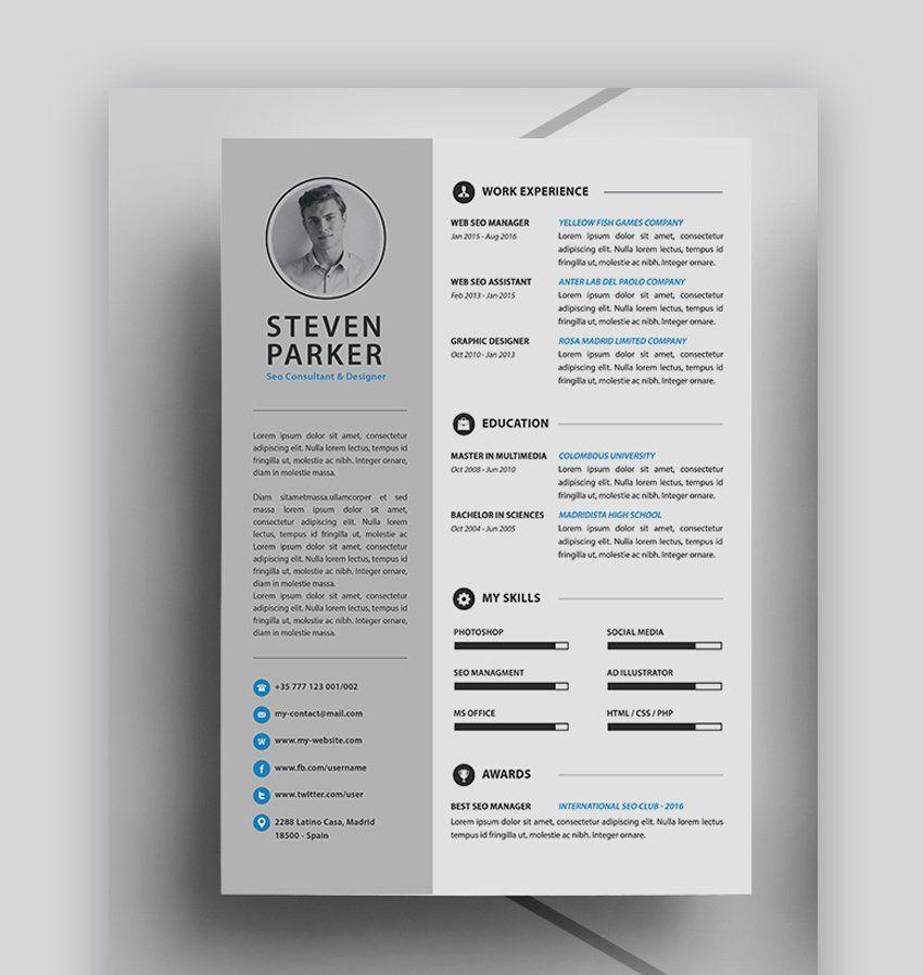 2 Column Resume Template Luxury 20 Best Job Resume Templates With Simple Designs 2019 Di 2020 Dengan Gambar