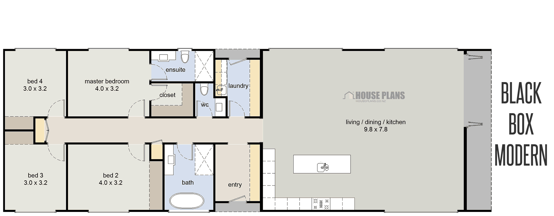 House Plans Queensland in 2020 House plans, Narrow house