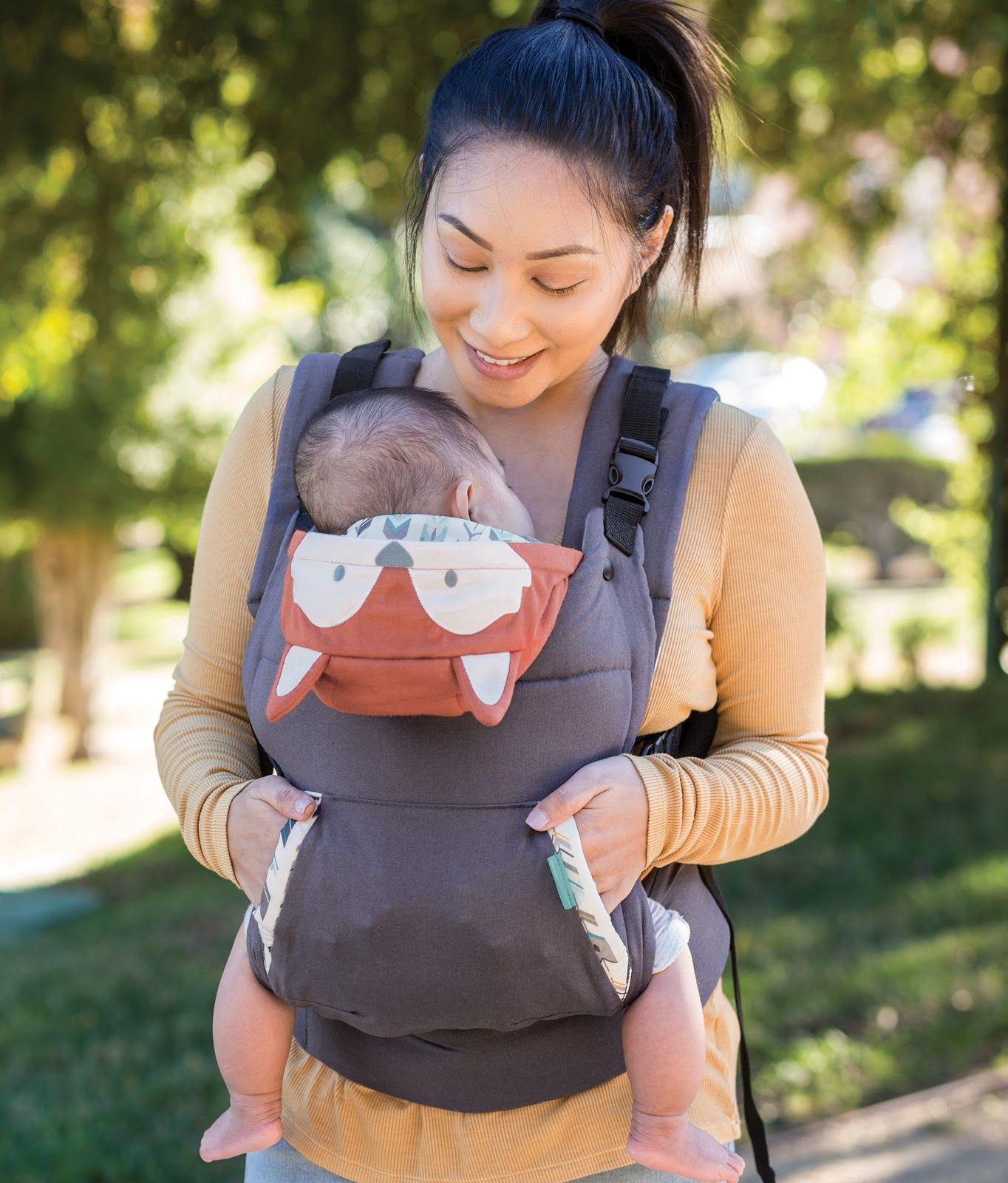 Infant Carrier Military Infantino S Cuddle Up Ergonomic Hoodie Carrier Allows Two
