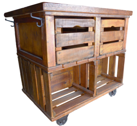 Kitchen Carts Wes Dalgo Apple Crate Rustic Farmhouse Kitchen Island Cart Rustic Trendy Farmhouse Kitchen Farmhouse Kitchen Island Rustic Farmhouse Kitchen