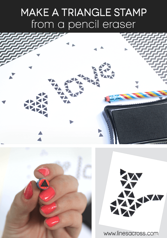 Make a Triangle Stamp from a Pencil Eraser