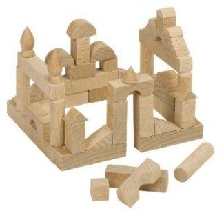 Goki Mini Wooden Building Bricks Wooden Building Blocks