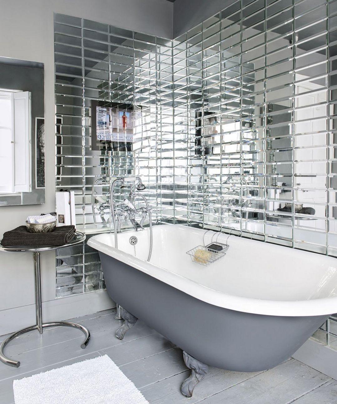 Gorgeous 25 Mirror Bathroom Tiles Ideas For Amazing Bathroom