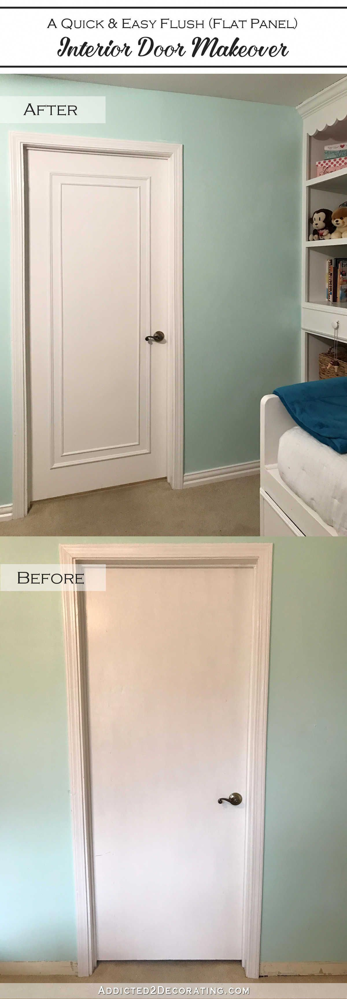 An easy  inexpensive way to update flush flat panel interior doors with moulding also rh pinterest