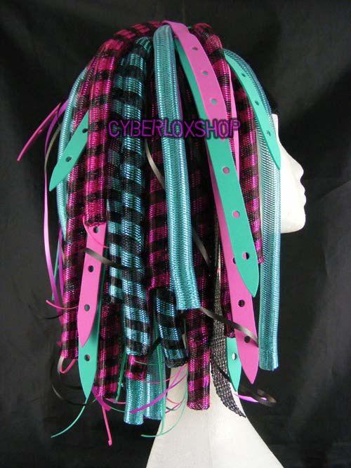 Aqua Blue and Pink Cyberlox