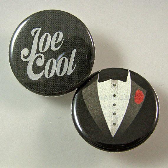 Joe Cool Pinback Button Set by XOHandworks