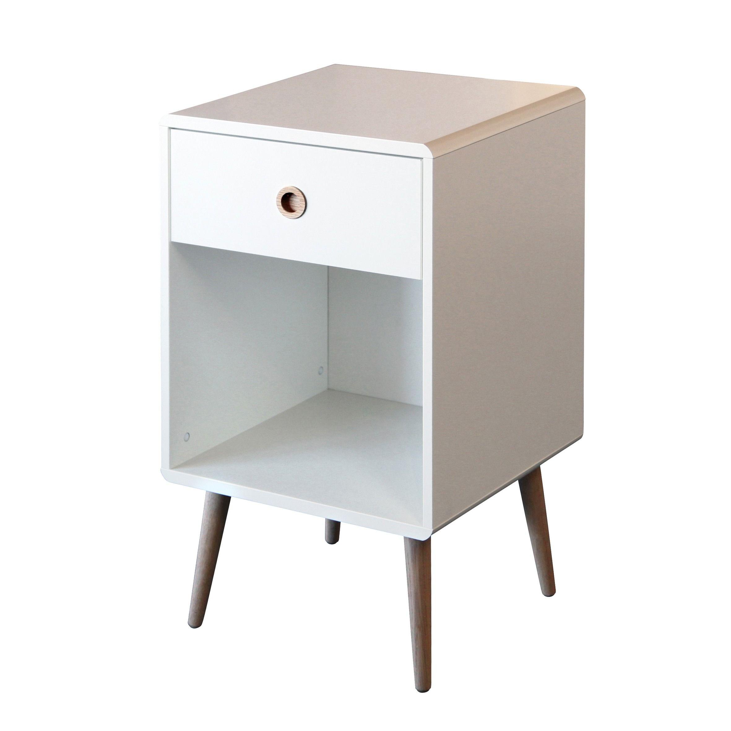 Corona 1 Drawer Bedside Cabinet In 2020 Bedside Table Bedside Cabinet Furniture