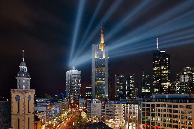 Frankfurt Skyline With An Extra World Cities Frankfurt Skyline Germany