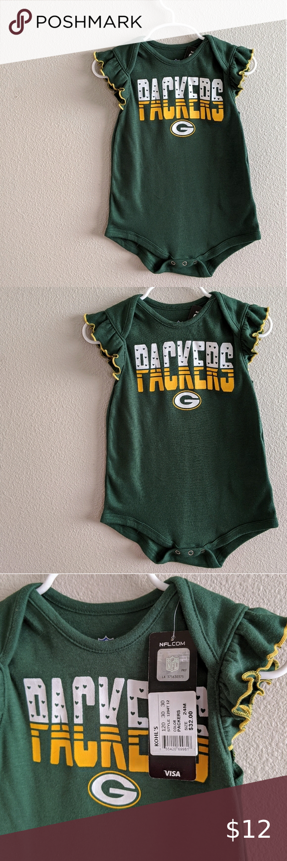Green Bay Onesie Set From Target Gift From My Dad To Quinn Clothes Nfl Packers Onesies