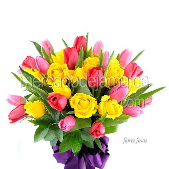 Arreglos Florales Df Tulipanes Rosa Serenata Envia Flores