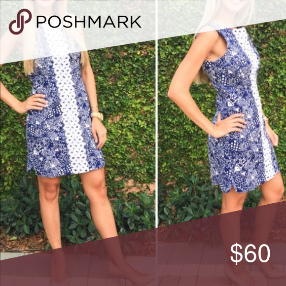 🎉🎉HOST PICK🎉🎉 💙LILY PULITZER DRESS💙 NWT This Lilly Pulitzer for Target Upstream Fish Blue & White Shift Dress is gorgeous! Beautiful blue and white fish print with white detailing along the middle. Pink & gold zipper in the back with a gold pineapple zipper pull! Dress is lined. 98% Cotton & 2% Spandex. Iconic Lilly Pulitzer Shift Dress design! Lilly Pulitzer Dresses Mini
