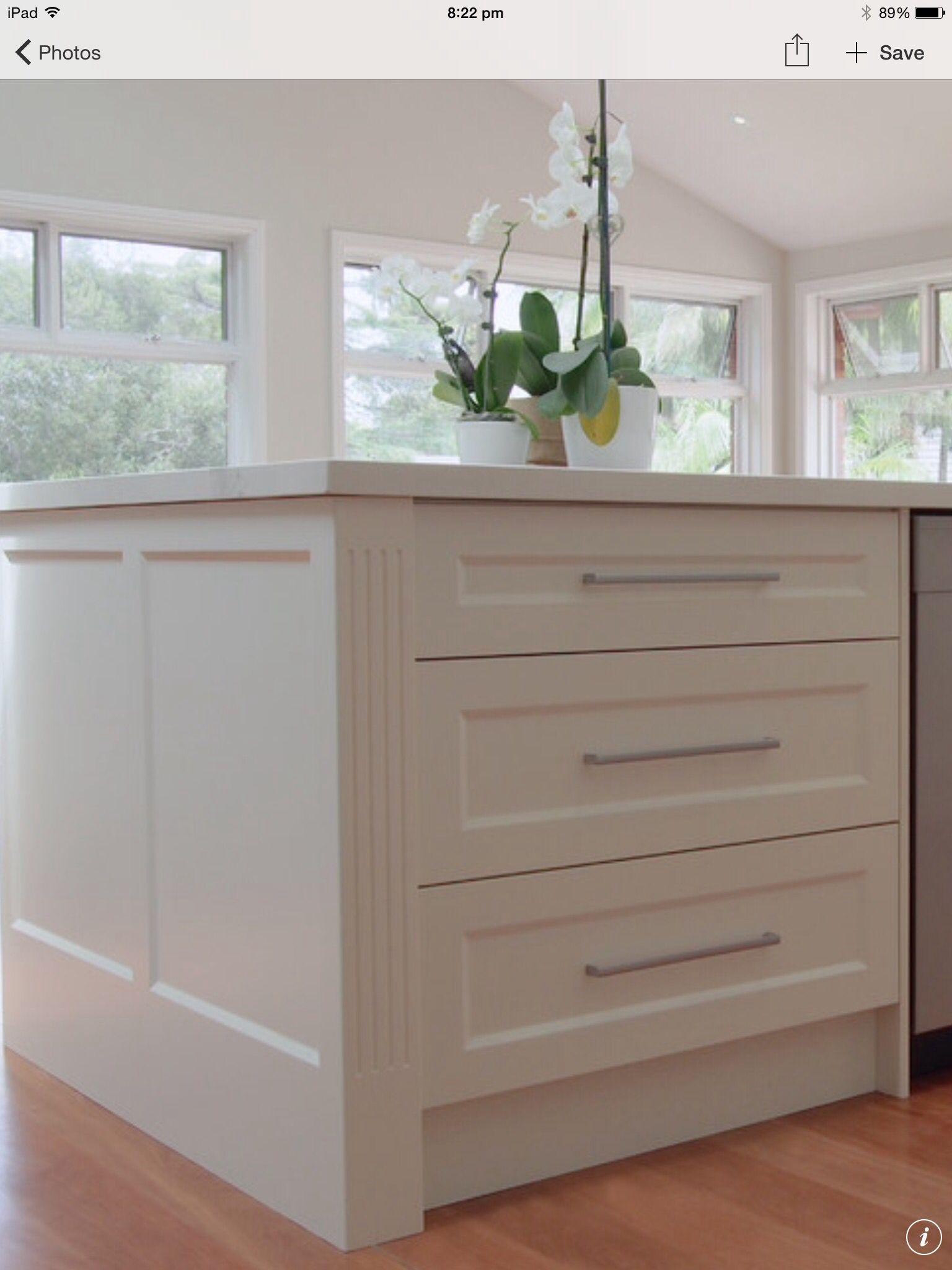 Shaker End Panel Alternative To Waterfall End Kitchen Cabinets End Panels Kitchen Island Back Panels Kitchen Design