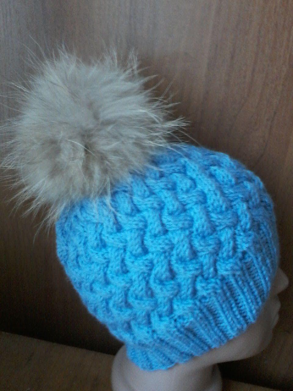 Двухцветная шапка крючком. Описание и мастер-класс от Людмилы Тен