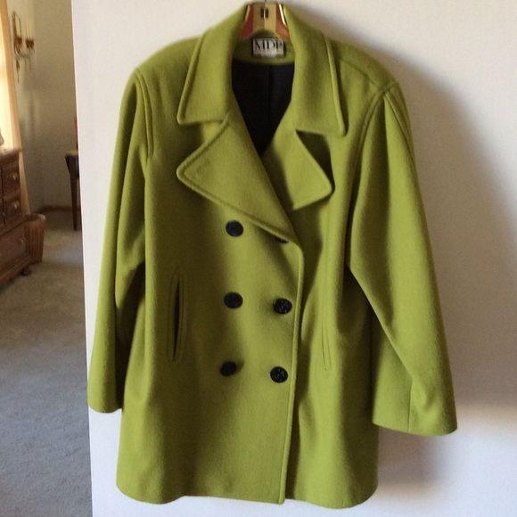 ❄️WINTER SALE❄ . Lime green pea coat | Wool pea coat, Green ...