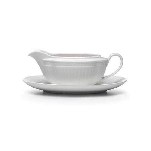 Mikasa Italian Countryside #DD900 Gravy Boat With Tray - 2 Pc (020911572823) Dimensions: N\A Brand New - First Quality
