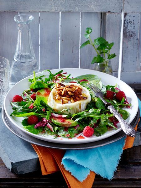 Photo of Baked honey goat cheese on salad recipe DELICIOUS
