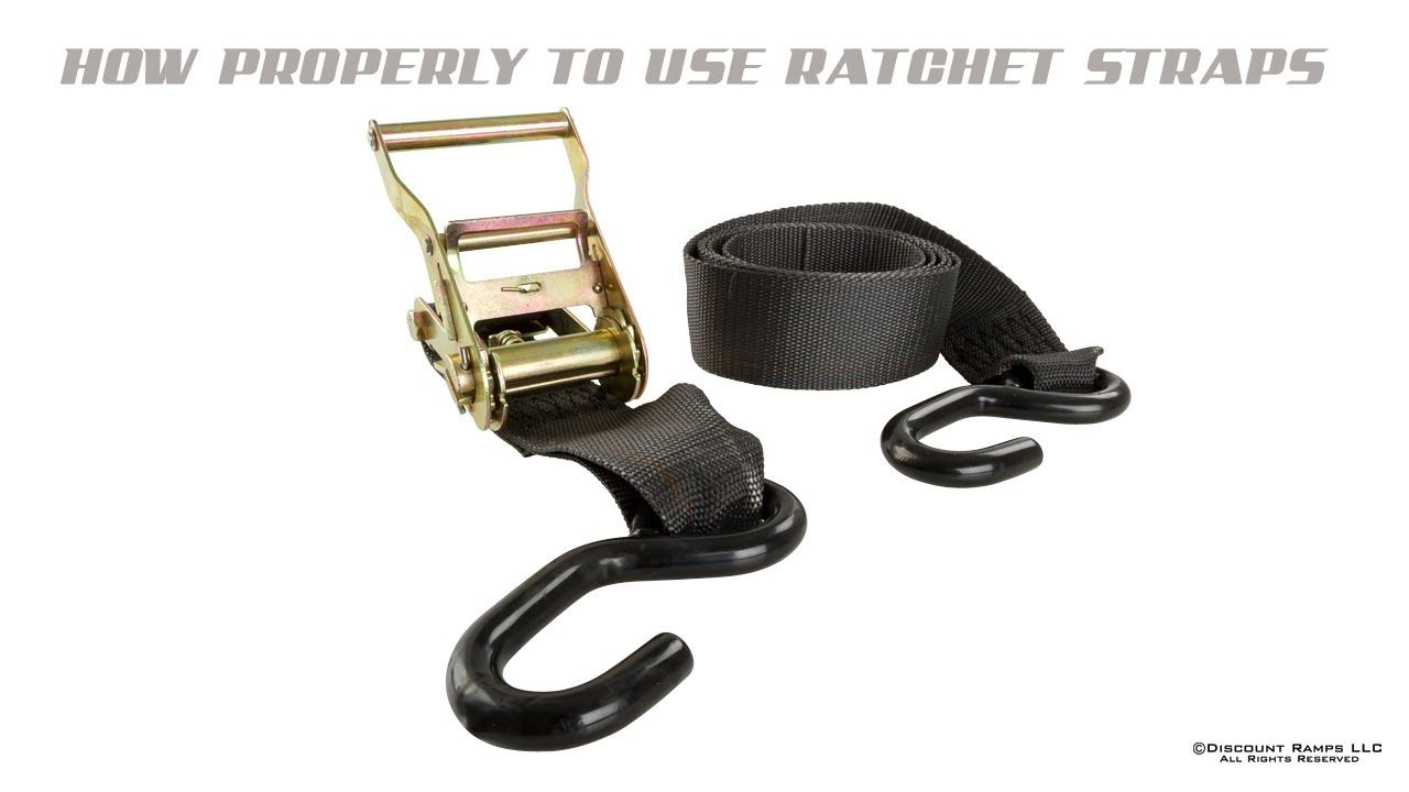 How to assemble and use ratchet straps ratchet straps