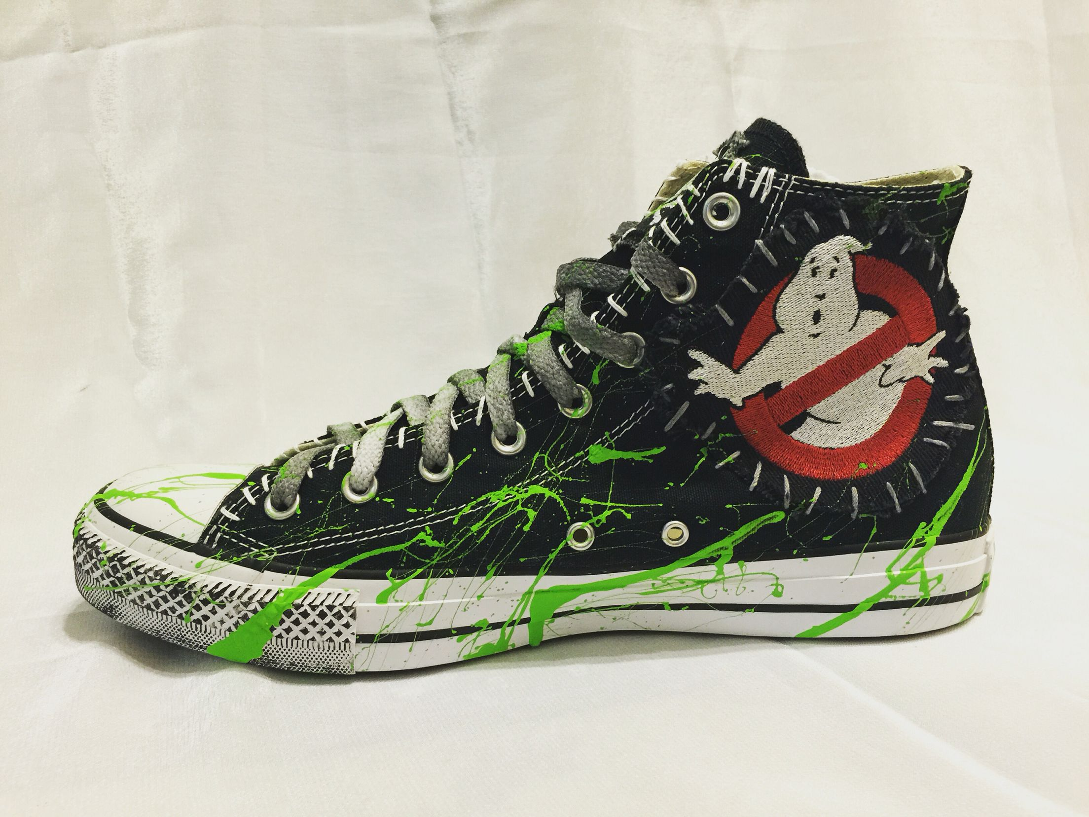 01208232c41ac1 GHOSTBUSTER  All Star  Converse shoes from Chad Cherry Clothing. Horror  icon shoes! Custom shoes!